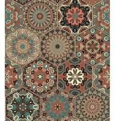 Tile Set Hexagon Weave vector image