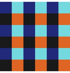 Blue Orange Chess Board Background vector image vector image