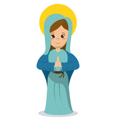 virgin mary religious catholic image vector image