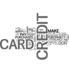 be prepared when you apply for a credit card text vector image