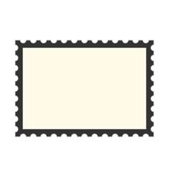 black postage stamp template vector image