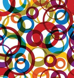 bright round rainbow circles on white background vector image