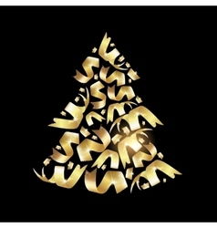 Christmas fir confetty vector image