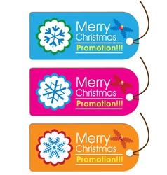 Christmas Swing Tags vector image vector image