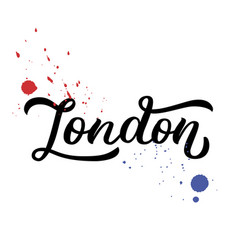 London hand lettering vector