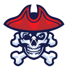 skull of pirate vector image