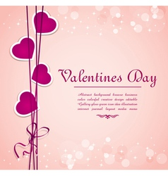valentines hearts background vector image vector image