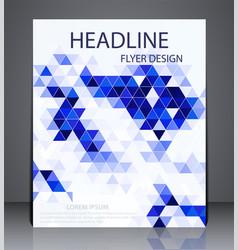 abstract digital business brochure flyer vector image vector image