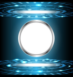 abstract technology digital circle with white vector image vector image