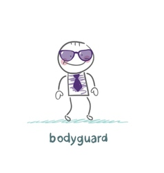 Bodyguard goes to work vector image vector image