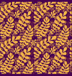 dark autumn leaves pattern seamless texture in vector image vector image
