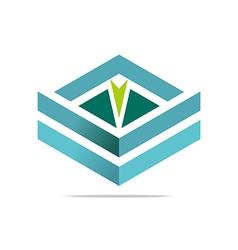 design element arrow letter v icon symbol vector image