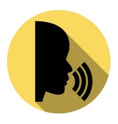 people speaking or singing sign flat vector image