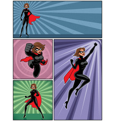 super heroine banners 4 vector image
