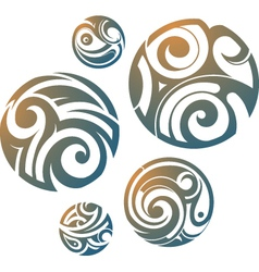 Tribal Tattoo Elements vector image vector image
