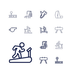 13 trainer icons vector