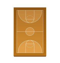 3d basketball playground model for betting vector image