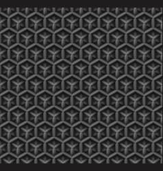 3d industrial black diamond seamless pattern vector