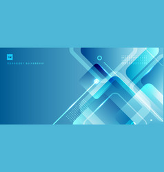 abstract banner web background blue geometric vector image