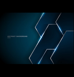 Abstract blue geometric overlapping layer vector