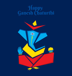 Abstract celebrate ganesh chaturthi festival vector