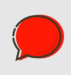 abstract flat red chat icon vector image
