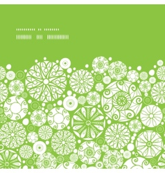 abstract green and white circles horizontal frame vector image