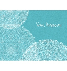 Abstract white and blue doily background vector image