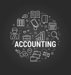 accounting service - round concept vector image