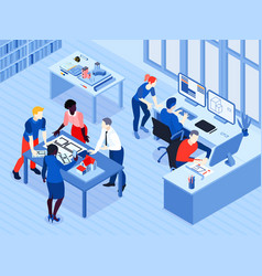 architect work isometric view vector image