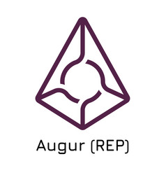 Augur rep crypto coin icon vector