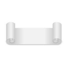 blank roll paper page on white background vector image