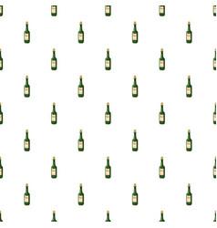 Bottle of wine pattern vector