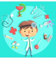 Boy Doctor Kids Future Dream Professional vector