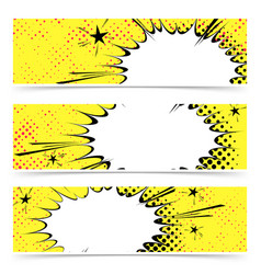 bright yellow pop art explosion emotion cloud vector image