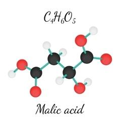 C4H6O5 Malic acid molecule vector image