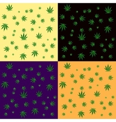 Cannabis leaf seamless background pattern vector