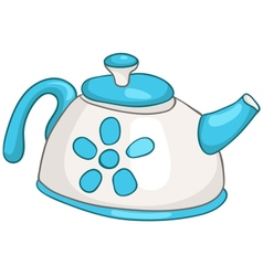 cartoon home kitchen kettle vector image