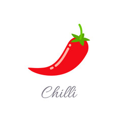 chilli icon with title vector image