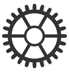 Clock Wheel Flat Icon vector