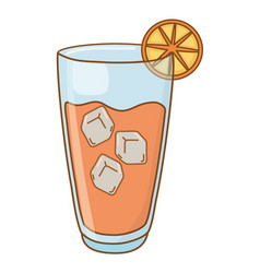 Cold alcohol drink vector