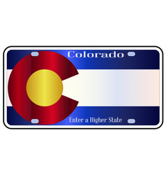 Colorado state license plate flag vector