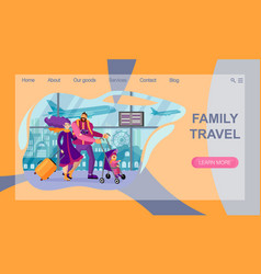 concept travel website landing page family vector image