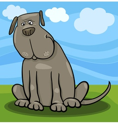 cute big gray dog cartoon vector image