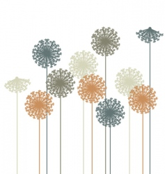 dandelion silhouette vector image vector image