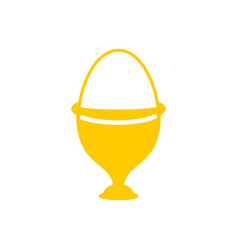 egg in stand isolated egg cups on white background vector image