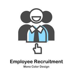 Employee recruitment mono color vector