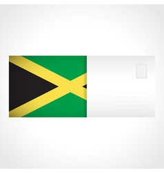 Envelope with Jamaican flag card vector image