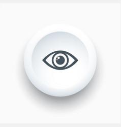 eye icon on a white round button vector image