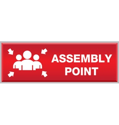 Fire Assembly Point Sign vector image